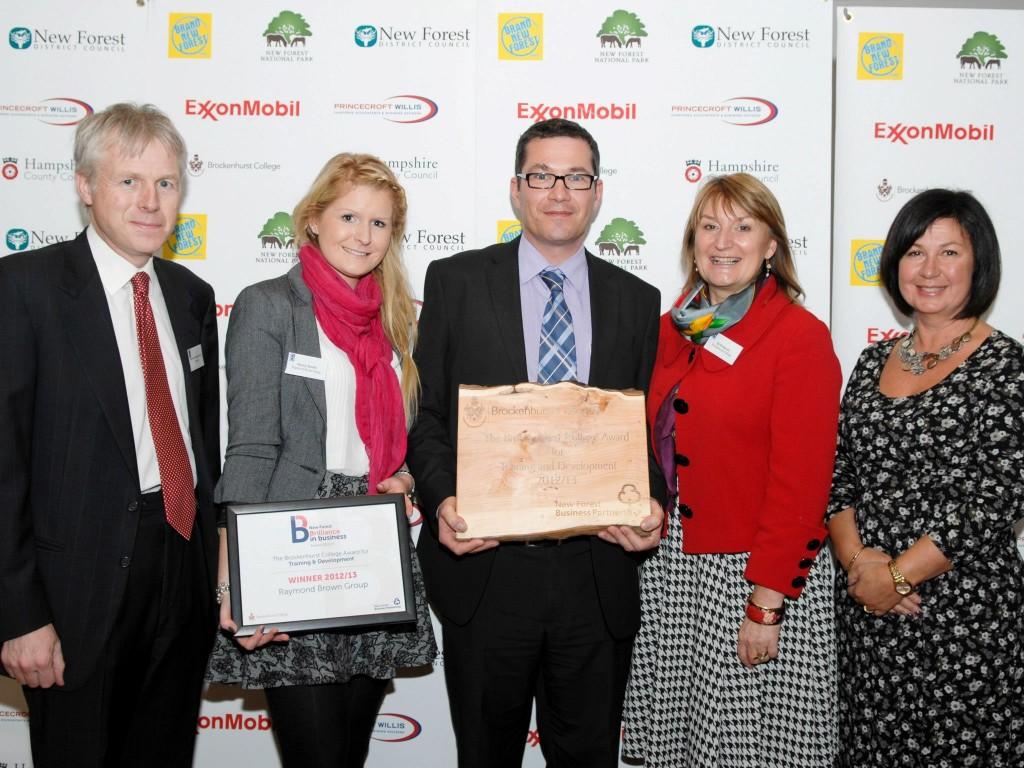 The Brockenhurst College Award for Training and Development