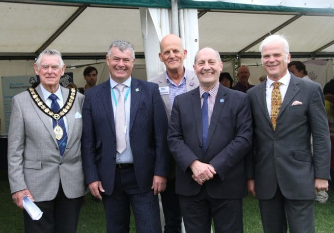 L-R: Cllr Goff Beck; Bob Jackson (Chief Exec - New Forest District Council); Anthony Climpson