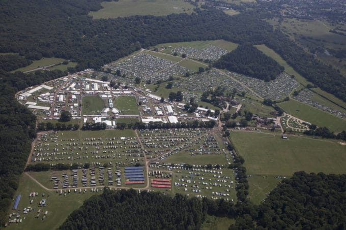 new forest show aerial image